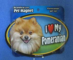 Love My Precious POMERANIAN Dog Lovers Car or Fridge Magnet