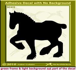 Heavy Draft Horse Auto Window Trailer Decal Sticker 423