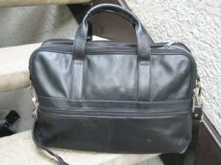 Heritage Used Black Soft Leather Briefcase