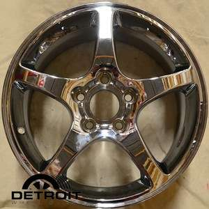 CHEVROLET CORVETTE 17X8.5 5 SPOKE CHROME REPLICA WHEEL RIM
