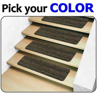 13 Indoor Outdoor Stair Treads   Non Slip Staircase Step Rug Carpet