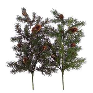 Club Pack of 12 Christmas Greens Angel Pine Cone Decorative Holiday
