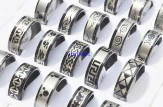 wholesale jewelry lots 100pieces stainless steel rings