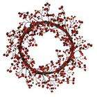 Holiday Decor Berry Wreath   22 Red/Burgundy Mixed Wreath Outdoor