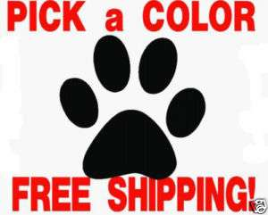 Dog Paw Print pad vinyl decal sticker PICK SIZE & COLOR