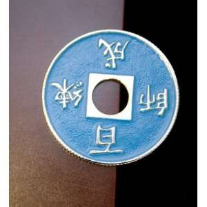 Chinese Coin   Blue Import
