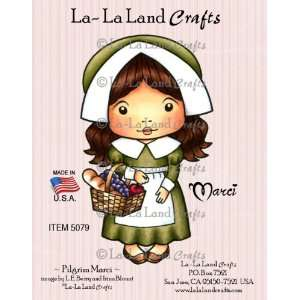 Land Crafts Cling Rubber Stamp, Pilgrim Marci Arts, Crafts & Sewing