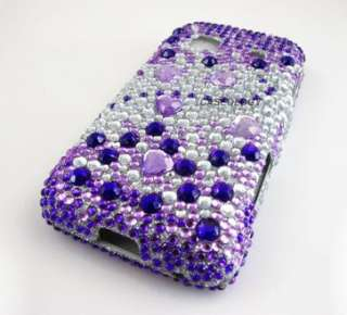 PURPLE SILVER DIAMOND HARD CASE COVER SAMSUNG GALAXY PREVAIL PRECEDENT