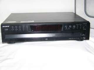 Sony Compact disc player, model CDP CE375; 5 disc exchanger