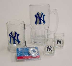 New York Yankees Beer Mugs & shot glasses set Engraved