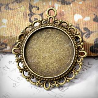 Charms Cabochon Settings Antique Brass bronze wholesale TS7410