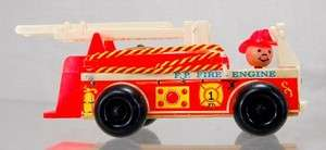 Fisher Price Red Fire Engine Truck Preschool Toy 1968