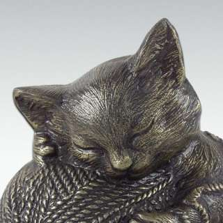 Precious Kitty Cat   Bronze   Metal Pet Cremation Urn