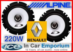 Renault 19 Cabrio Front door Speakers Alpine speakers