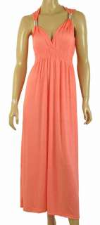 NEW LADIES LONG STRETCH WOMENS MAXI DRESS SIZE 8   16