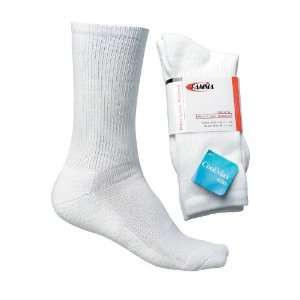 Gamma Mens Coolmax Crew Socks, 10.5   13, White Sports