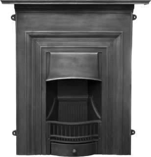 Oxford Black Finish Cast Iron Combination Fireplace,victorian,SEF008