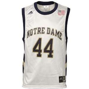 adidas Notre Dame Fighting Irish #44 White Replica Basketball Jersey