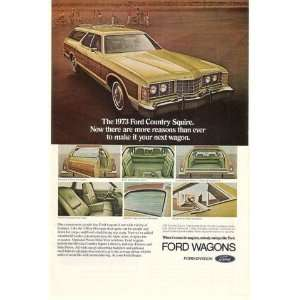 Ford Country Squire Station Wagon Print Ad (16768)