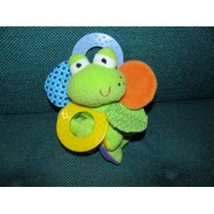 Infantino Frog Rattle Mirror Plush Baby TOy Teether