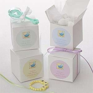 Personalized Baby Shower Favor Boxes   Baby Carriage