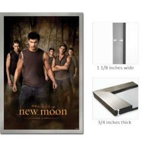 Framed Twilight Poster New Moon Wolf Pack FrPas0116