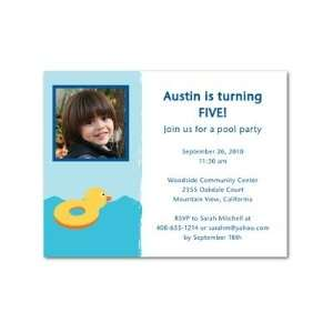 Birthday Party Invitations   Big Splash Blue Moon By