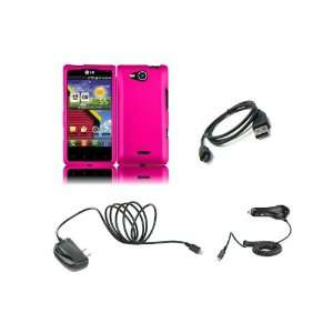 Lucid (Verizon) Premium Combo Pack   Hot Pink Hard Shield Case Cover