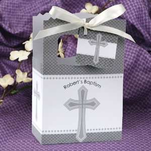 Cross   Classic Personalized Baptism Favor Boxes Toys & Games