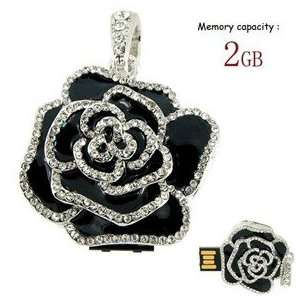 Beautiful flower Disk/flash drive (Black & White) Electronics