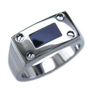 Cut Stainless Steel Signet Ring Size 9 (Sizes 9 10 11 12 Available