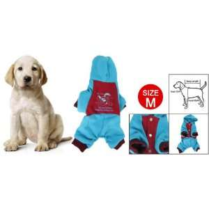 Stud Closure Red Blue Costume Pet Dog Autumn Jumpsuit M