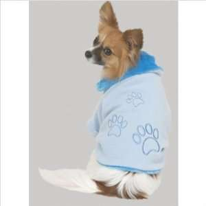 Plush Luxe Dog Coat in Blue Size Large