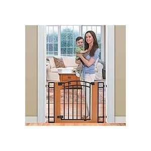 Stylish n Secure Metal And Wood Walk Thru Gate Baby