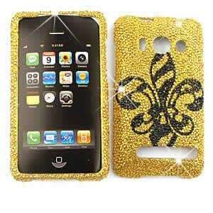 HTC EVO 4G Full Crystal Diamond / Rhinestone / Bling Black