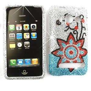 HTC EVO 4G Full Crystal Diamond / Rhinestone / Bling Red