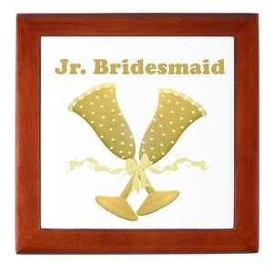 Golden Junior Bridesmaid Wedding Keepsake Box by  Baby