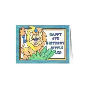 Little Lion, Happy 6th Birthday, king of the jungle Card  Toys