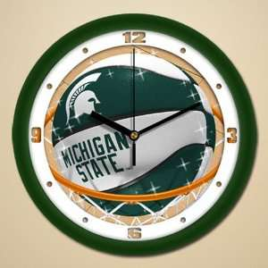 NCAA Michigan State Spartans 11.5 Slam Dunk Wall Clock