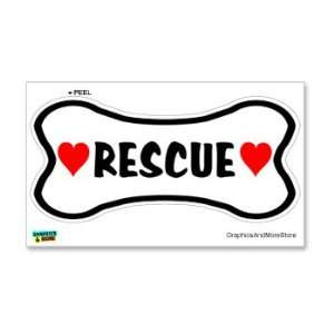 Rescue Dog Love Bone   Window Bumper Locker Sticker