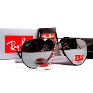 New Ray Ban Sunglasses Black Frames Mirror Lens RB3025