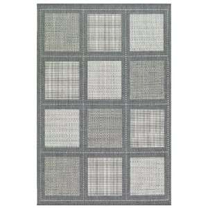 1043/3012 23 x 710 Grey / White Runner Area Rug Furniture & Decor