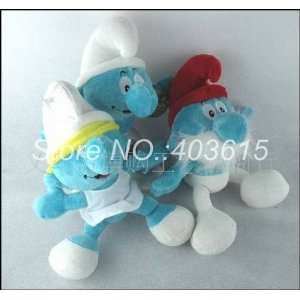 100pcs/lot the smurfs stuffed plush toys dolls moive toys