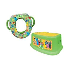 Sesame Street Potty and Step Stool Combo Set, Framed Friends Baby