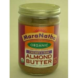 Maranatha Almond Butter, Organic & Raw, Creamy, No Salt, 16 Ounce