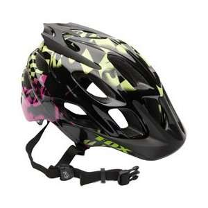 Fox Racing Flux Helmet [Black/Green] L/XL Black/Green L/XL