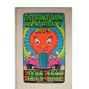 The Orange Show silk Screen Poster Uncle Charlie