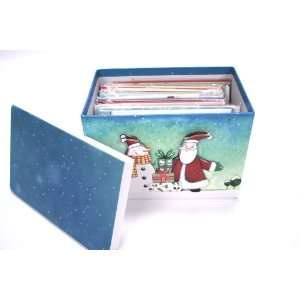 Paper Magic 24 ct Handmade Christmas Cards In Decorative, Reusable Box