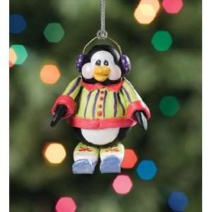 Chillinz Penguin Downhill Racer Skier Christmas Ornament