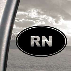 RN Registered Nurse Logo Black Decal Truck Window Sticker